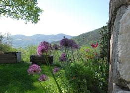 Chambre d'hôte Ardèche vue montagne
